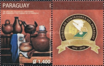 [The 100th Anniversary of the Colegio de Contadores del Paraguay - Accountant's School, type FFG]