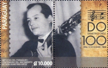 [The 100th Anniversary of the Birth of Demetrio Ortiz,. 1916-1975, type FFR]