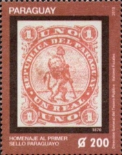 [The Frist Paraguyan Stamp, Typ FIZ]
