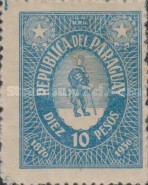 [The 60th Anniversary of First Postage Stamps in Paraguay, type GP5]