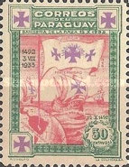 [The 441st Anniversary of Departure of Columbus from Palos - Ships, type HJ2]