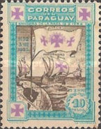 [The 441st Anniversary of Departure of Columbus from Palos - Ships, type HJ7]
