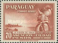 [Airmail - The 400th Anniversary of Foundation of Asuncion, type JI1]