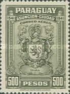 [Airmail - The 400th Anniversary of Foundation of Asuncion, type JI2]