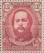 [Airmail - The 120th Anniversary of the Birth of Marshal Francisco S. Lopez, 1827-1870, type MC]