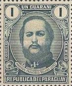[Airmail - The 120th Anniversary of the Birth of Marshal Francisco S. Lopez, 1827-1870, type MC2]