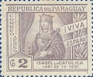 [Airmail - The 500th Anniversary of the Birth of Queen Isabella the Catholic, 1451-1504, type NC1]