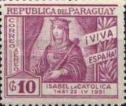 [Airmail - The 500th Anniversary of the Birth of Queen Isabella the Catholic, 1451-1504, type NC3]