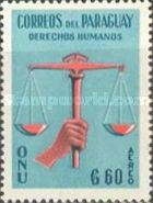 [Airmail - Universal Declaration of Human Rights by UN - Inscribed