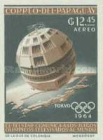 [Airmail - Space Exploration and Olympic Games - Tokyo, Japan, Typ UB3]