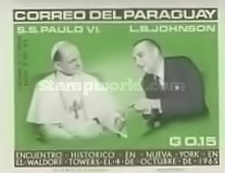 [Airmail - Visit of Pope Paul VI at the United Nations, Typ YF1]