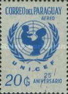 [Airmail - The 25th Anniversary of UNICEF, type ZTX6]