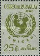 [Airmail - The 25th Anniversary of UNICEF, type ZTX7]