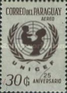 [Airmail - The 25th Anniversary of UNICEF, type ZTX8]