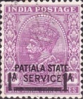 [King George V, 1865-1936 - India Postage Stamp Surcharged, Typ H]