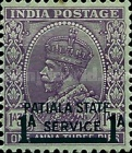 [King George V, 1865-1936 - India Postage Stamp Surcharged, Typ I]