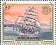 [Sailing Ships - Penrhyn Postage Stamps of 1981 & 1984 Overprinted