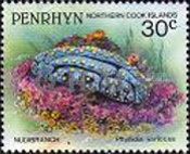 [Marine Life -  Penrhyn Postage Stamps of 1993 with Silver Overprint, type AV]