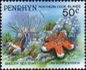 [Marine Life -  Penrhyn Postage Stamps of 1993 with Silver Overprint, type AW]
