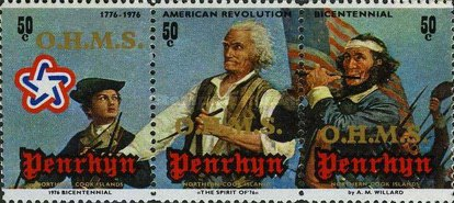 [The 200th Anniversary of The American Revolution - Penrhyn Postage Stamps of 1976 Overprinted