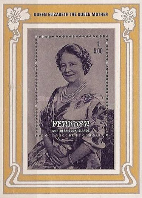 [The 85th Anniversary of the Birth of Queen Elizabeth the Queen Mother, 1900-2002, type ]
