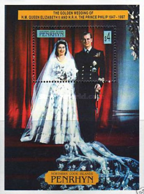 [The 50th Anniversary of the Wedding of Queen Elizabeth II and Prince Philip, type ]