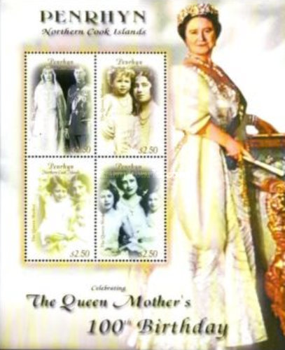 [The 100th Anniversary of the Birth of Queen Elizabeth, 1900-2002, type ]