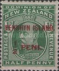 [New Zealand Postage Stamps Surcharged, type A1]