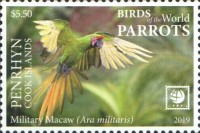 [Birds of the World - Parrots - White Frame, type AAU]
