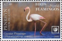 [Birds of the World - Flamingos, type ABO]