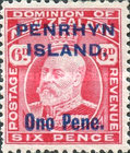 [New Zealand Postage Stamps Surcharged, type C1]