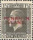 [New Zealand Postage Stamps Overprinted, type D1]
