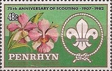 [The 75th Anniversary of Boy Scout Movement, type IE]