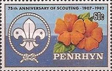 [The 75th Anniversary of Boy Scout Movement, type IF]