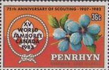 [World Scout Jamboree, Alberta, Canada - Issues of 1983 Overprinted, type IH]