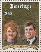 [Royal Wedding of Prince Andrew and Sarah Ferguson, type LR]