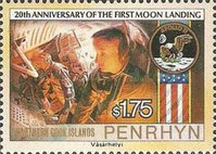 [The 20th Anniversary of First Manned Moon Landing, type NI]