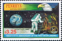 [The 25th Anniversary of First Manned Moon Landing, type PP]