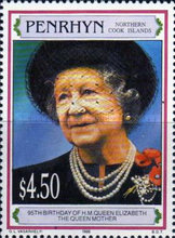 [The 95th Anniversary of the Birth of Queen Elizabeth the Queen Mother, 1900-2002, type QB]
