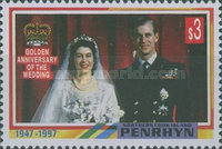 [The 50th Anniversary of the Wedding of Queen Elizabeth II and Prince Philip, type QK]