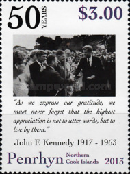 [The 50th Anniversary of the Death of J.F.Kennedy, 1917-1963, type UT]