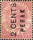 [Straits Settlements Postage Stamp No. 36 Overprinted