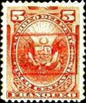 "[Postage Stamps of 1886 Overprinted ""GOBIERNO"" in Rectangle in Red Colour, type B2]"
