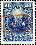 "[Postage Stamps of 1886 Overprinted ""GOBIERNO"" in Rectangle in Red Colour, type B4]"