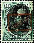 """[Postage Stamps of 1894 Overprinted """"GOBIERNO"""" in Rectangle in Red Colour, Typ C6]"""