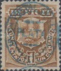 [Previously Issued Postage Due Stamps Overprinted in Blue or Red Colour - With Grill, Typ F]