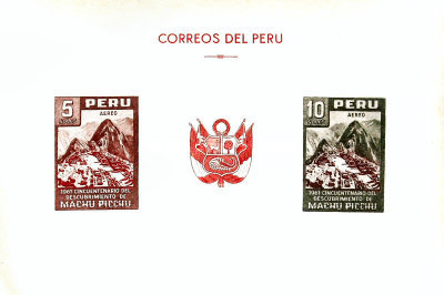 [Airmail - The 50th Anniversary of the Discovery of the Inca City of Machu Picchu, type ]