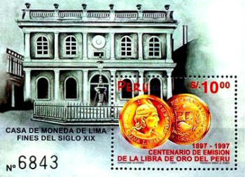 [The 100th Anniversary of Gold Libra in Peru, Typ ]
