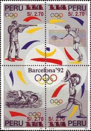 [Olympic Games Stamps of 1996 Surcharged, type ]