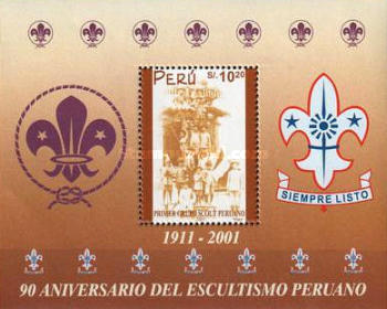 [The 90th Anniversary of Peruvian Scouts, Typ ]